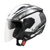 [東門城] ASTONE RST AQ1 黑白 3/4罩安全帽 通風佳 輕量化