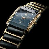 【台南 時代鐘錶 勞斯丹頓】ROSDENTON 典雅魅力 陶瓷真鑽腕錶 8803LGB-2D 黑 24mm