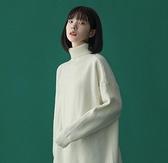 素色毛衣女高領打底衫寬鬆針織衫【少女顏究院】