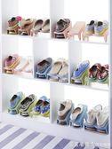 家用雙層鞋子收納架塑料一體式鞋托簡約 客廳衣櫃簡易收納鞋架NMS 漾美眉韓衣