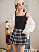 吊帶背心 夏季吊帶背心女外穿上衣打底衫內搭西裝無袖針織小背心網紅白黑色【618 購物】