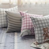 北歐風 方抱枕 枕心飽滿 【超取限購一顆】布套可拆洗 圖案可愛獨家 台灣製 棉床本舖