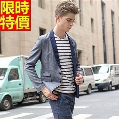 西裝外套-正韓潮流修身時尚薄款亞麻外套68q47【巴黎精品】