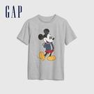 Gap男童 Gap x Disney 迪士尼系列復古印花圓領短袖T恤 615598-淺麻灰