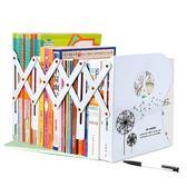 可伸縮書立架折疊書夾書靠書架簡易桌面課桌收納課本夾書器 js2603『科炫3C』
