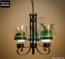 INPHIC- 北歐簡約陽臺飄窗裝飾燈花草咖啡廳餐廳工業鐵藝玻璃吊燈_S197C
