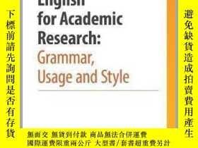 二手書博民逛書店English罕見For Academic Research-學術研究英語Y436638 Adrian Wal