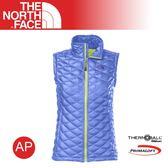 【The North Face 女 TB保暖背心《海岸線藍》】C777/防水透氣/輕量/戶外活動