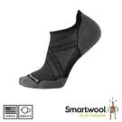 【SmartWool 美國 男 PHD跑步輕量菁英減震型踝襪《炭黑》】SW0SW167/短襪/跑步襪/運動襪/健行襪
