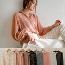 MIUSTAR 點線/花澎袖雪紡襯衫(共8色)【NJ0053】預購