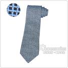 HERMES愛馬仕經典緹花LOGO黑立方格設計蠶絲領帶(薰衣草藍)