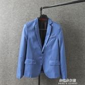 西裝外套 男裝18春季新款大碼修身小西裝男士商務西服正裝休閒外套
