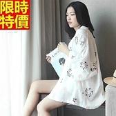 和服外套-清新白色純棉刺繡防曬和風女罩衫4款68af16[時尚巴黎]