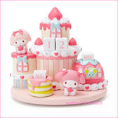 asdfkitty可愛家☆美樂蒂草莓蛋糕造型萬年曆/裝飾品/擺飾-日本正版商品