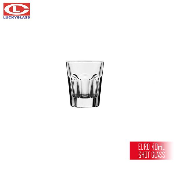 泰國LUCKY EURO 40mL SHOT杯 小酒杯 烈酒杯 SHOT GLASS 六角杯