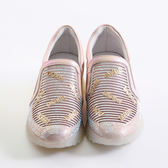 DeSire  英文字母水鑽楔型鞋 -粉