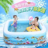 充氣泳池折疊充氣兒童游泳池家用池嬰兒洗澡玩具大號小孩室內加厚戲水 XW全館免運