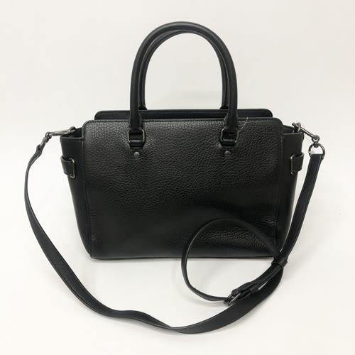 【COACH】霧黑馬車鍊條手提斜背兩用小方包醫生包(黑色)