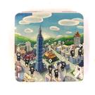 【收藏天地】台灣紀念品*雙面隨身鏡-黑熊台北路線 /小物 送禮 文創 風景 觀光  禮品
