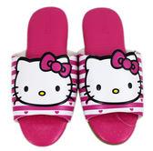 【卡漫城】 Hello Kitty 皮革 室內 拖鞋 條紋 24cm ㊣版 兒童 台灣製 室內拖 止滑 凱蒂貓 氣墊