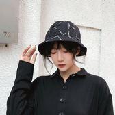 漁夫帽日系防曬遮陽帽日系休閒印花【奇趣小屋】