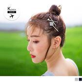 《ZB0596》韓國製~鑲鑽飾造型/綴珍珠/正方形髮夾 OrangeBear
