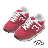 【韓國T2R】經典復刻8公分真皮氣墊增高鞋 ↑8cm 紅(5600-0028)