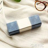 眼鏡盒女韓國小清新抗壓復古優雅創意眼睛盒男生個性文藝簡約   電購3C