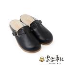 【樂樂童鞋】台灣製質感單扣休閒鞋-黑色 C078 - 現貨 台灣製 女鞋 休閒鞋 女童鞋 大童鞋 拖鞋 皮鞋