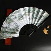 扇子折扇古風學生中國風個性古典裝飾男士隨身復古清明上河圖10寸