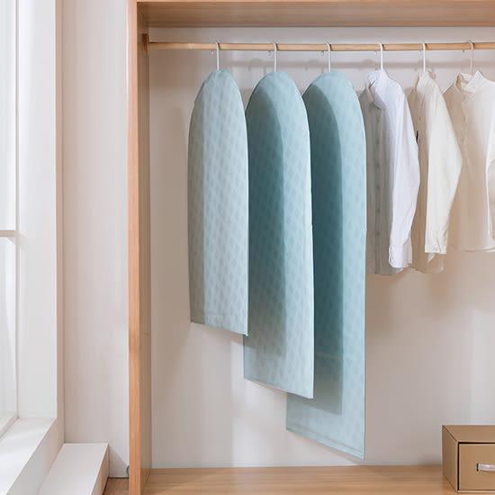 ✭米菈生活館✭【Z77-1】清新西服防塵罩(大60x130cm) PEVA 衣物分類 換季 防潮 西裝 洋裝 防塵套