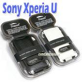 Dapad Sony Xperia U ST25i 皮套 保護套 手機套 下掀式 卡夢紋 碳纖維 公司貨 出清【采昇通訊】