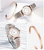 女士手錶女錶時尚新款女生錶簡約鋼帶防水休閒學生女式石英錶   初見居家