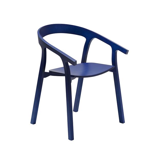 義大利 Mattiazzi MC1 He Said Wooden Armchair 他說 木質扶手椅(藍色梣木)