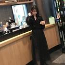 半身裙中長款 很仙的裙子網紗蕾絲半身裙女新品新款中長款黑色仙女流行紗紗裙