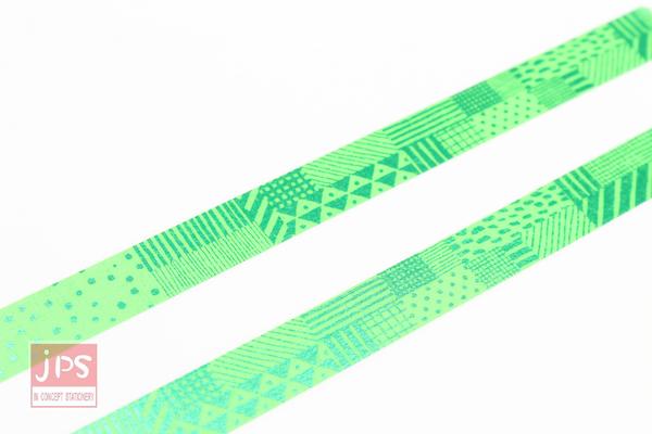 日本MT和紙膠帶fab箔押-手繪圖案.綠(MTHK1P06)