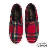 Chiara Ferragni 義大利休閒鞋  格紋厚底款 紅色
