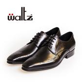 Waltz-經典沖孔雕花德比鞋212174-02(黑)