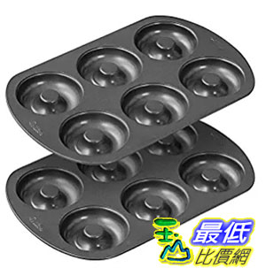 [美國直購] Wilton 2105-1620 6 Cavity Nonstick Donut Pans (2 Pack) 烤盤