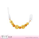 【嬰之房】PiyoPiyo黃色小鴨 夜光甜甜圈奶嘴鍊(橘)