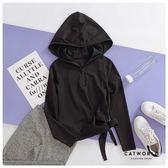Catworld 側綁帶拉鍊運動帽T【11304649】‧S/M/L