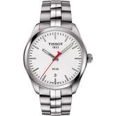TISSOT 天梭 PR100 時尚NBA特別版女錶-銀/33mm T1012101103100
