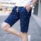 夏季男士短褲五5分褲夏天休閒中褲子男韓版運動大褲衩沙灘馬褲潮