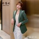 外套 網紅西裝外套女春秋新款設計感小眾時尚氣質西服單件休閒上衣顯瘦