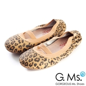 G.Ms. 童鞋-金屬羊皮鬆緊口可攜式娃娃鞋(附鞋袋)*豹紋