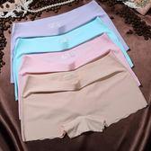 4條女士內褲女平角褲無痕冰絲中腰大碼一片式全棉襠少女四角