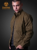 sarchon秋冬戶外衝鋒衣男軍迷防水風衣特種兵戰術外套登山夾克服