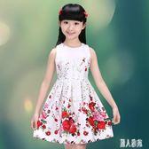 女童洋裝 2019新款女童無袖公主連身裙兒童中童群大童裝裙子小孩夏裝 DJ8021