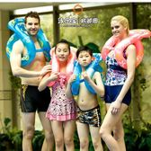 涼感兒童游泳圈成人男女童泳圈加厚雙氣囊腋下泳圈救生圈泳樂寶泳圈【非凡】