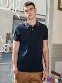 【Bbay】 男士短袖Polo衫 休閒翻領純棉T恤SX1017